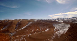 Aerial, Snowy Mountains, Landscape Around Agoudal, Morocco Footage