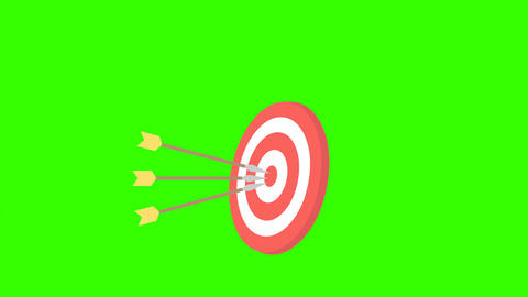 Arrows Hitting Archery Target: Looping + Matte Animation