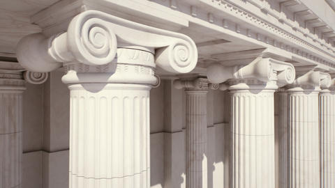 Marble Columns. Loopable Footage