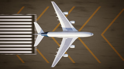 Concept of success. Airplane on the runway Stock Video Footage