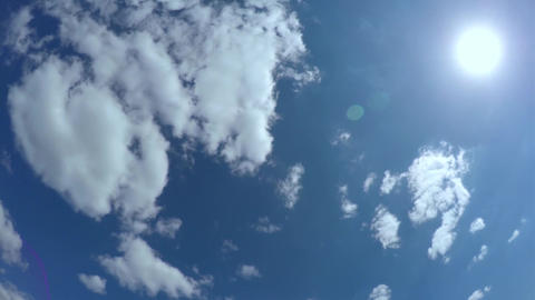 White clouds on a blue sky Footage