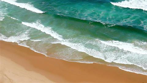 Blue waves Atlantic Ocean meeting sand Footage