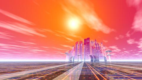 City metal Animation