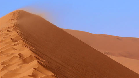 Namib desert dune Sossusvlei sandstorm Footage