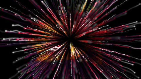 Particle Collision No Distortion Red Animation