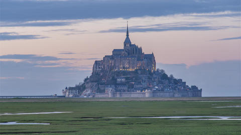 Mont Saint-Michel, France - Timelapse - The Mont Day to Night Footage