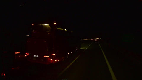 Timelapse with cars and buses that speeding on a highway at night 26 Footage