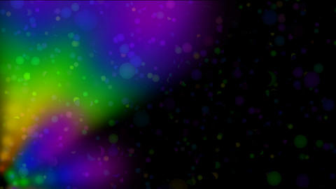 aurora launched color rays light smoke and flying balls... Stock Video Footage