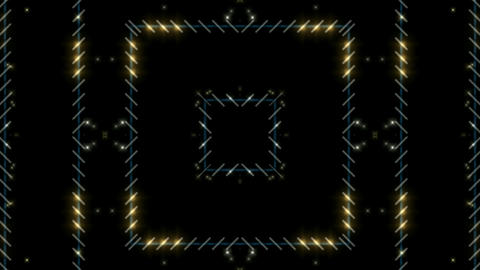 flare golden stars around metal square grid... Stock Video Footage