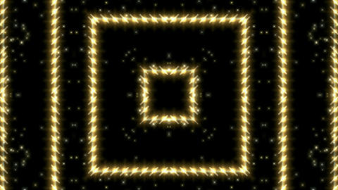 flare golden stars around metal square grid board,Hollywood stage fire light,fly Animation