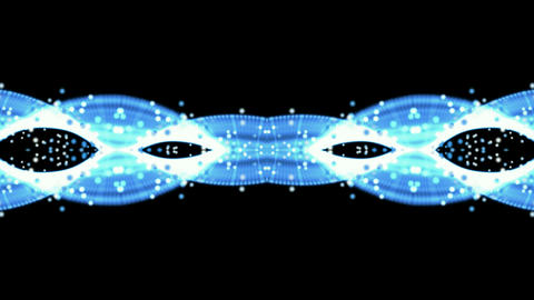 blue fiber optic and flare particle,flow silk,necklace... Stock Video Footage