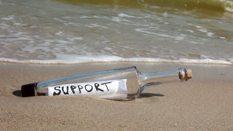 Bottle support Stock Video Footage