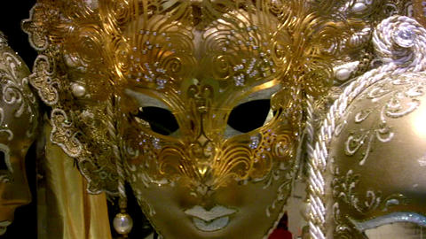 Masks of Venice Stock Video Footage