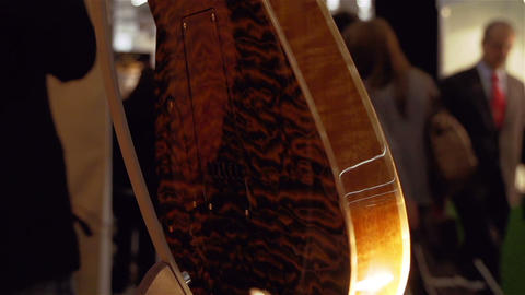 Closeup of electric guitar Stock Video Footage