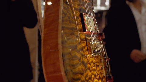 Closeup of electric guitar Stock Video Footage
