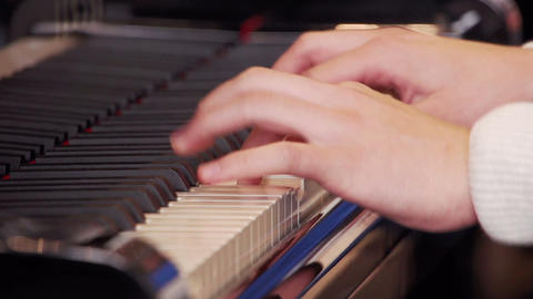 Piano player Stock Video Footage