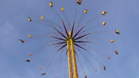 Chain swing ride on funfair Stock Video Footage