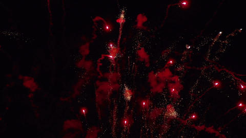Firework in slow motion Stock Video Footage