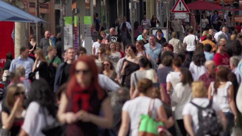 Menschen in der Stadt Footage