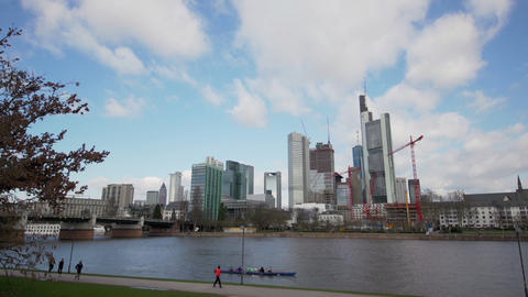 Cityscape of Frankfurt - Financial district Footage