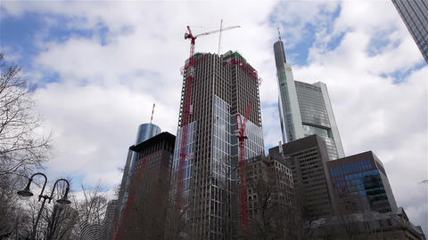 Time Lapse of Frankfurt - Financial district Footage