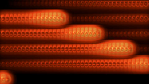 particles and cells stripe,golden bubbles lines,ECG Stock Video Footage