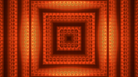 flower and cells pattern,disco neon frame tunnel Stock Video Footage