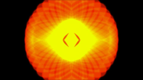 dazzling flower pattern,flare rays light pattern and fire Stock Video Footage