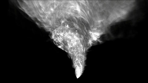 rotation tornado and smoke,end of the world,explosion Stock Video Footage