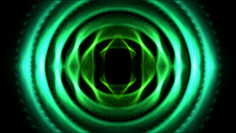 green round tunnel,tech computer game interface Stock Video Footage