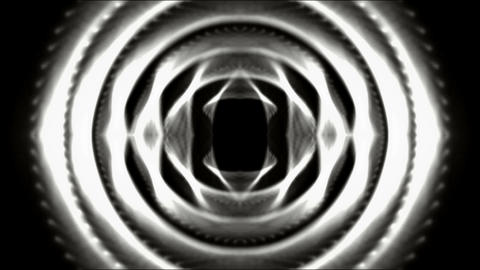 3d stainless steel round tunnel,tech computer game interface Stock Video Footage