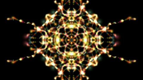 flare buddhism mandala fire flower pattern,kaleidoscope,music concert disco neon Animation