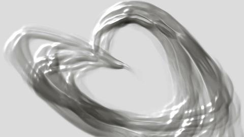 flowing oil stream and swirl black plastic curve liquid Stock Video Footage