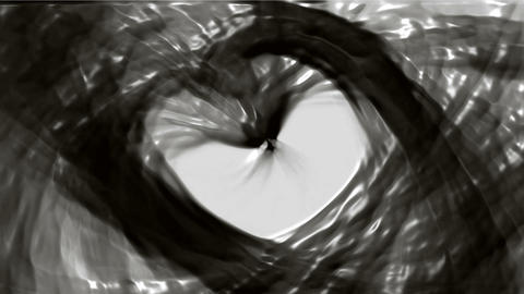 flowing oil stream and swirl black plastic curve liquid Animation