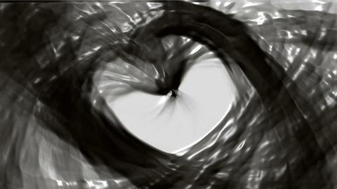 flowing oil stream and swirl black plastic curve liquid Animation