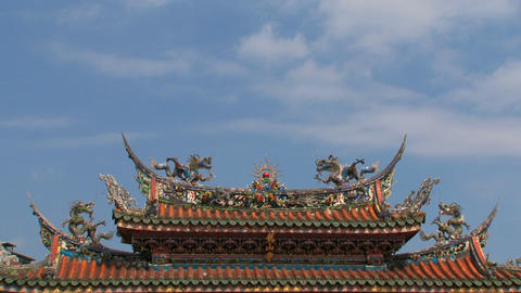 Longshan Temple timelapse Stock Video Footage