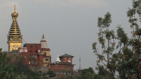 swayambhunath stupa,monkey temple Stock Video Footage