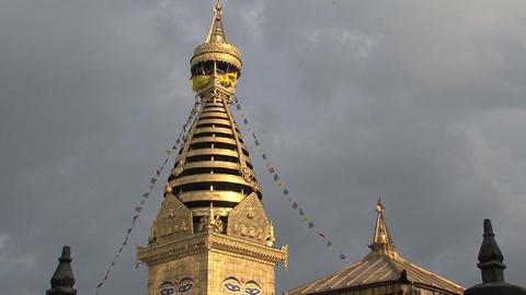 Swayambhunath stupa/monkey temple Stock Video Footage