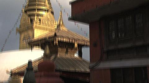 Tilt swayambhunath stupa Footage