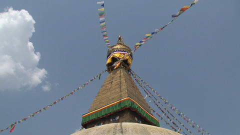 Boudha stupa in a sunny day Stock Video Footage