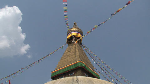 Boudha stupa in a sunny day Footage