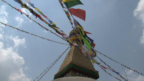Prayer flags in the wind Stock Video Footage