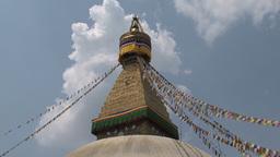 Boudha stupa in Kathmandu Footage