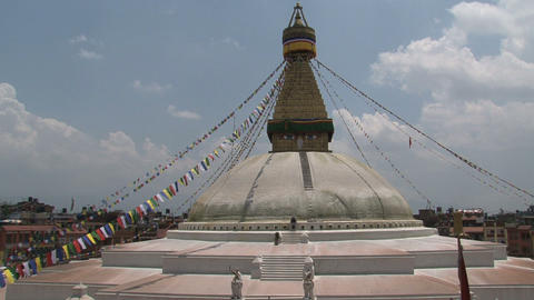 Still wide shot from the Boudha stupa Stock Video Footage