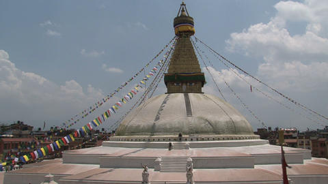 Still wide shot from the Boudha stupa Footage