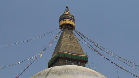 Wide shot of the Boudha stupa Footage