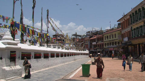 The top of the Boudhanath stupa Footage
