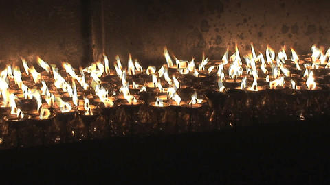 Incense and candles during Buddha's birthday Stock Video Footage