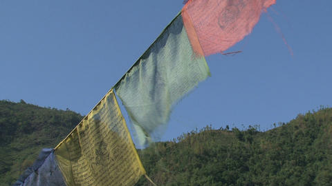 Prayer flags Stock Video Footage
