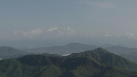 Zoom out from the Annapurna Range of the Himalayas Footage